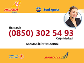 Uçak Bileti Ücretsiz Müşteri Hizmetleri - Pegasus İletişim