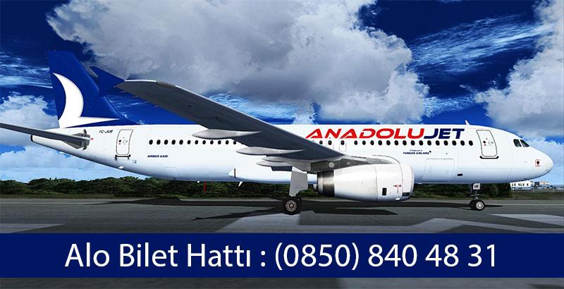 anadolu jet ucuz uçak bileti telefon numarası
