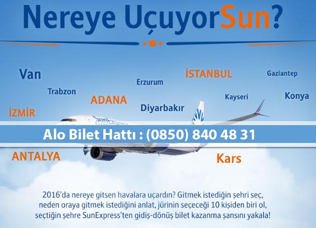 sunexpress ucuz uçak bileti iletişim